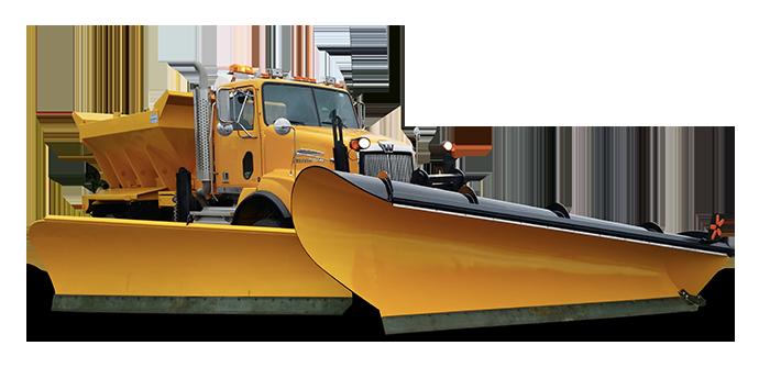 Gratte à neige pour camion de déneigement